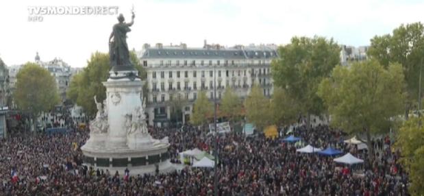 Enseignant décapité : Rassemblement place de la république, en France