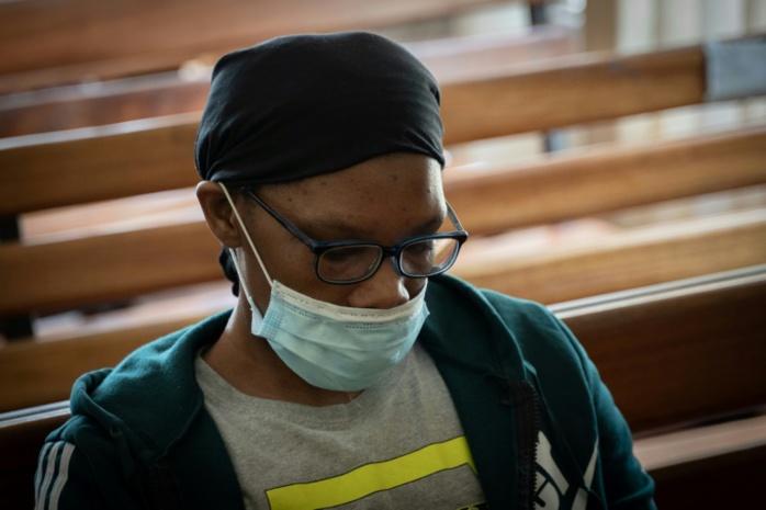 Béatrice Munyenyezi, accusée de crimes pendant le génocide de 1994 contre les Tutsi, au tribunal de Kigali, le 28 avril 2021 au Rwanda. Simon Wohlfahrt / AFP