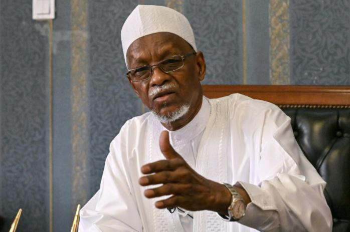 L'ancien président tchadien Goukouni Weddeye à N'Djamena le 2 mai 2021. Issouf SANOGO / AFP