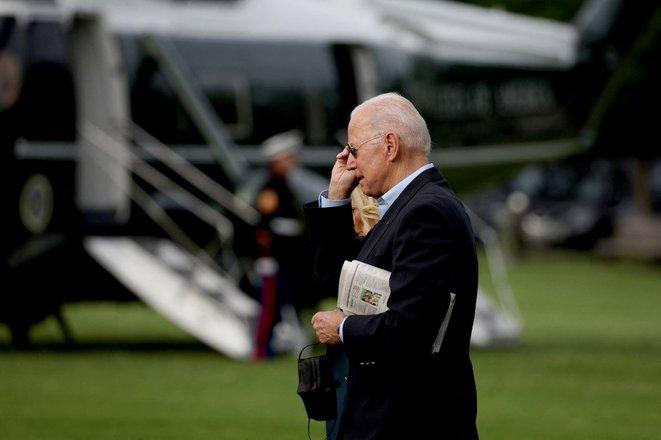 Joe Biden à Washington avant son départ pour l'Europe mercredi 9 juin. © Anna Moneymaker/GETTY IMAGES NORTH AMERICA/AFP
