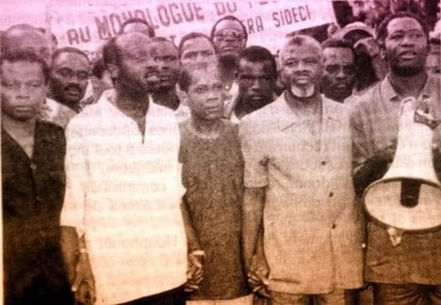 Wodié Francis, Zadi Zaourou, Bamba Moriféré, Laurent Gbagbo, Photo d'archive