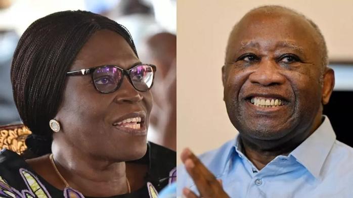 L'ex-couple présidentiel Simone et Laurent Gbagbo, engagé dans un divorce familial et politique. © AFP