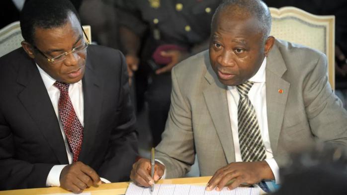 Affi N'guessan et Laurent Gbagbo