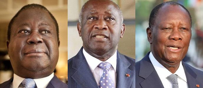 Henri Konan Bédié, Laurent Gbagbo, Alassane Ouattara