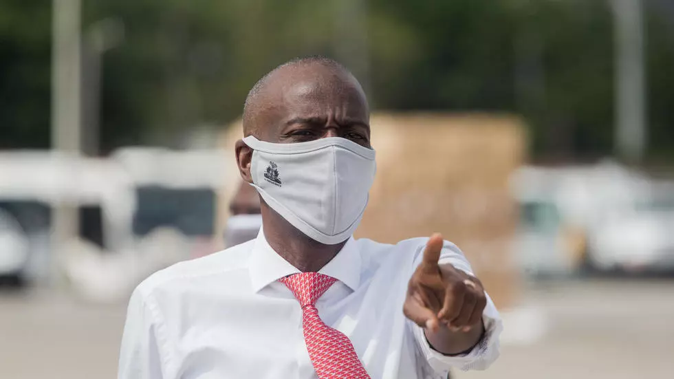 Le président haïtien Jovenel Moïse, le 7 mai 2020. © Pierre Michel Jean, AFP (archives)
