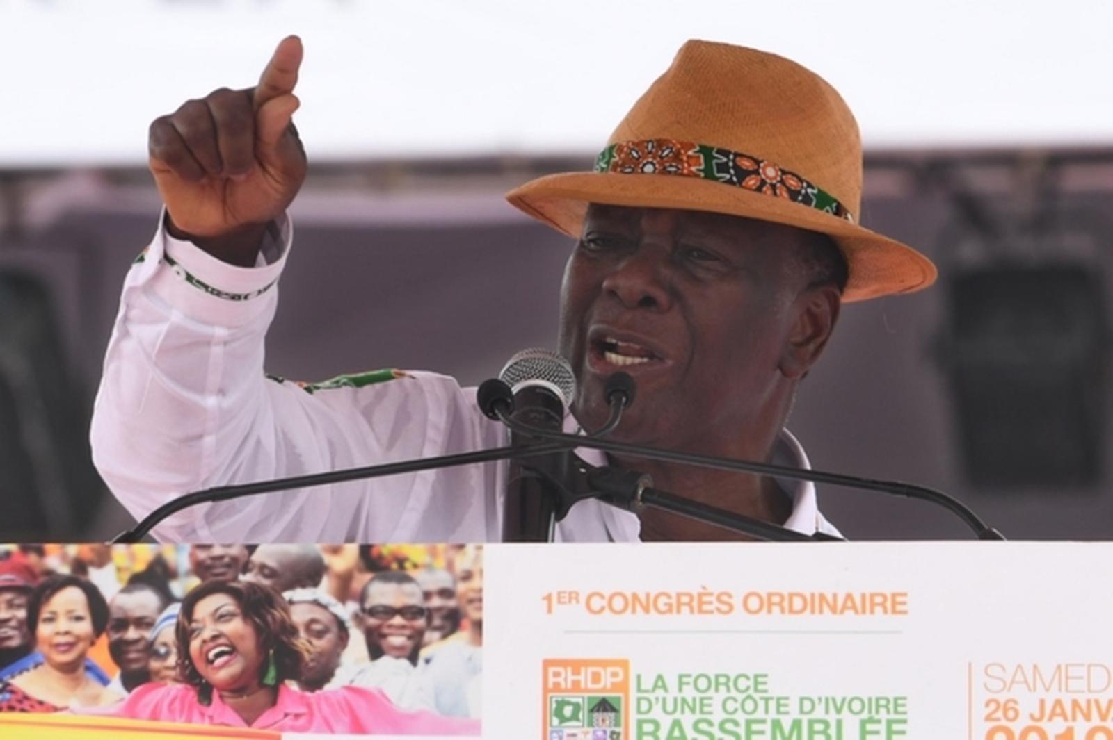 Le président Ivoirien Alassane Ouattara, en campagne présidentielle 2020
