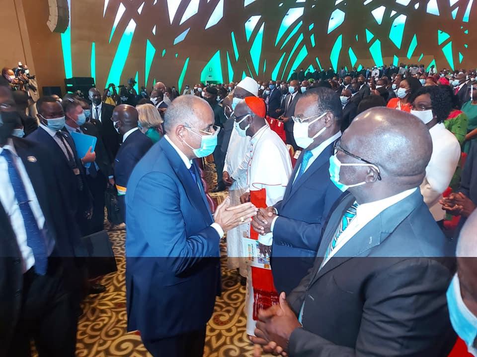 Le premier ministre ivoirien Patrick Achi et l'ex premier ministre Affi N'Guesan, président du FPI