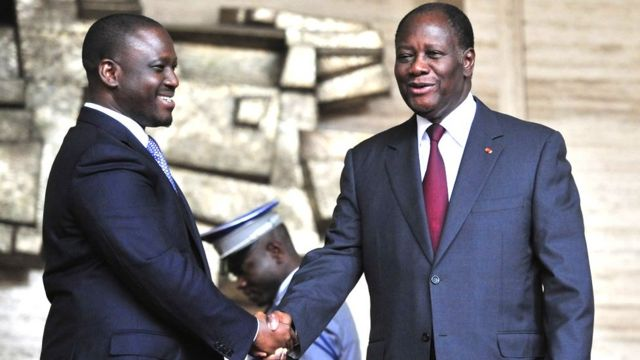 Soro guillaume et Alassane Ouattara