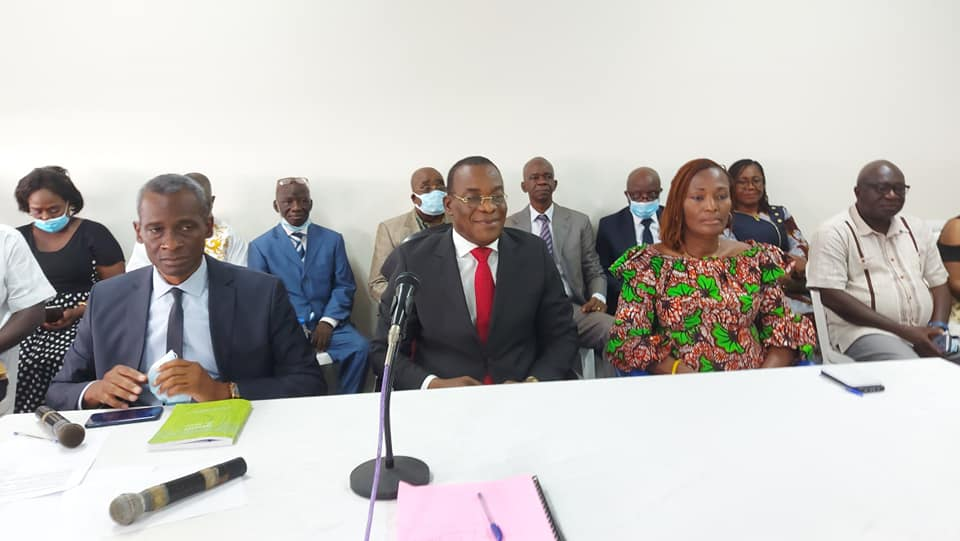 Affi N'guessan, Issisaka Sangare et la 1ere vice-présidente Christine Konan