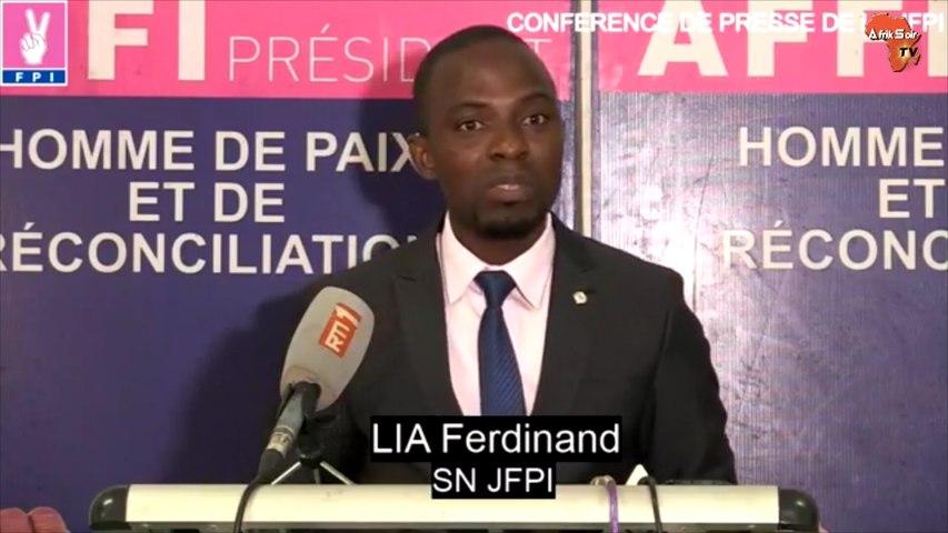 Lia Ferdinand, Secrétaire National de la Jeunesse du Front Populaire Ivoirien