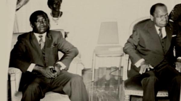 Le président Félix Houphouët Boigny et son opposant Laurent Gbagbo - Credit photo  Blog daniel baoule