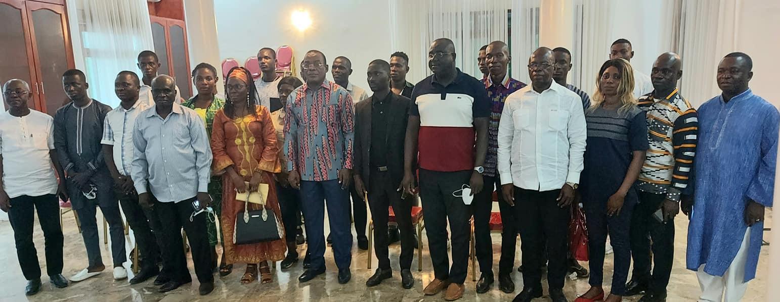 Le président du FPI reçois le soutien de jeunes entrepreneurs