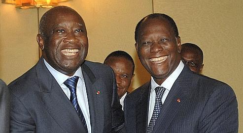 Laurent Gbagbo et Alassane Ouattara, les deux faux-frères