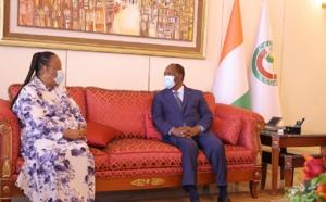 La ministre sud-africaine des relations internationales et de la coopération reçue en audience par Alassane Ouattara